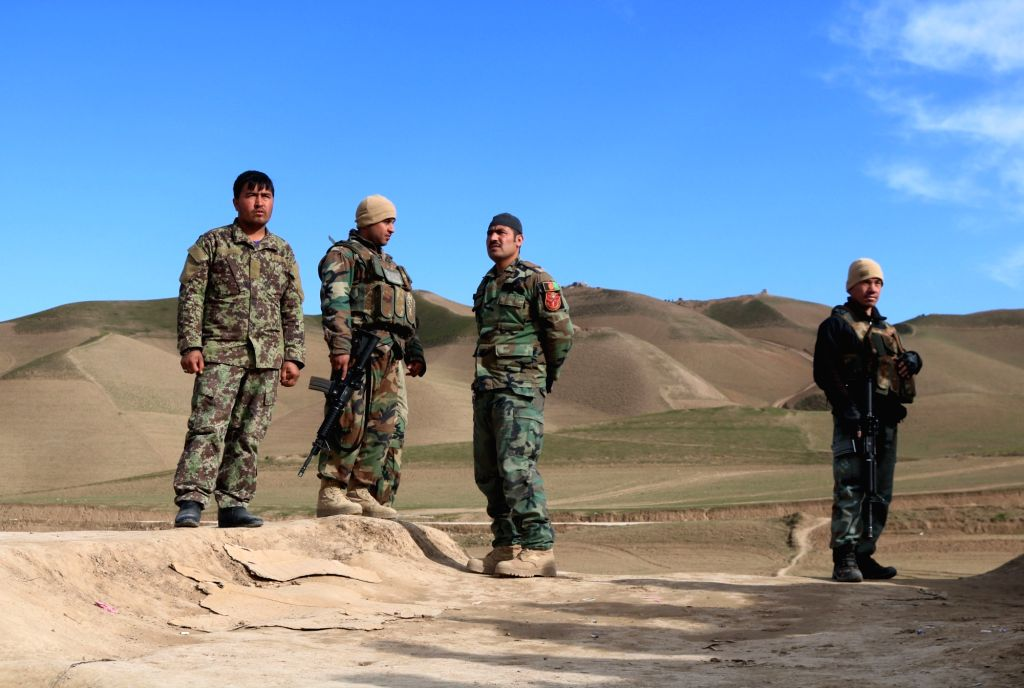 SARI PUL, Feb. 17, 2019 - Afghan security force members take part in a military operation in Sayad district of Sari Pul province, Afghanistan, Feb. 16, 2019. Afghan government forces have killed 20 ...