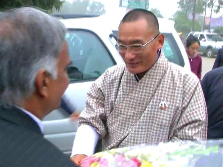 Prime Minister of Bhutan Tshering Tobgay during his visit to Sarnath, 13 km away from Varanasi on Jan 16, 2015.