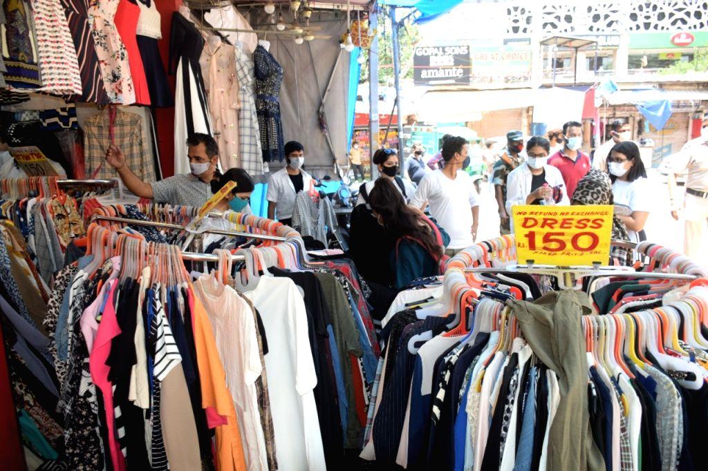 Sarojini Nagar market open today in New Delhi on Monday 07 June, 2021.