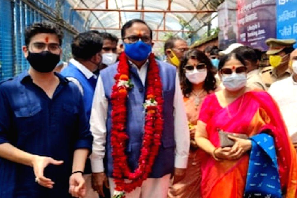 Satish Chandra Mishra in Ayodhya. - Satish Chandra Mishra