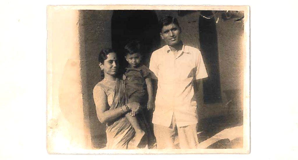 Satya Nadella with his parents, circa 1970. (Photo: Courtesy, LinkedIn)
