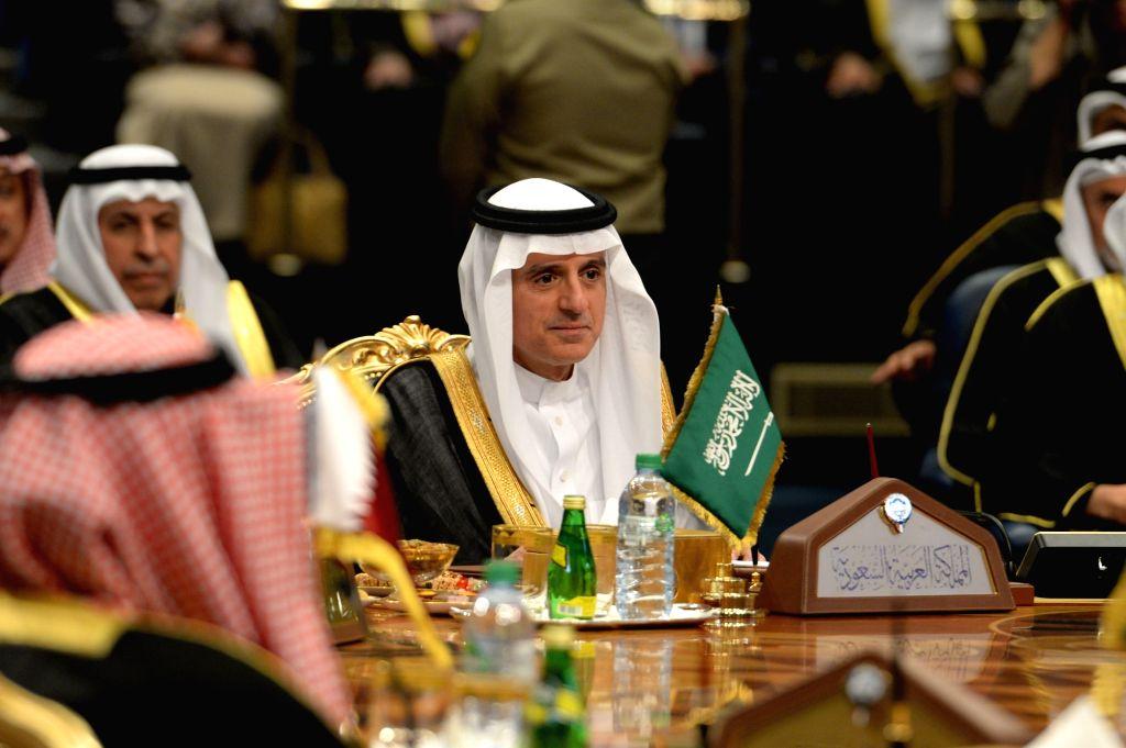 Saudi Foreign Minister Adel Al-Jubeir (C). (Xinhua/Muhammed Ayaan/IANS) - Adel A