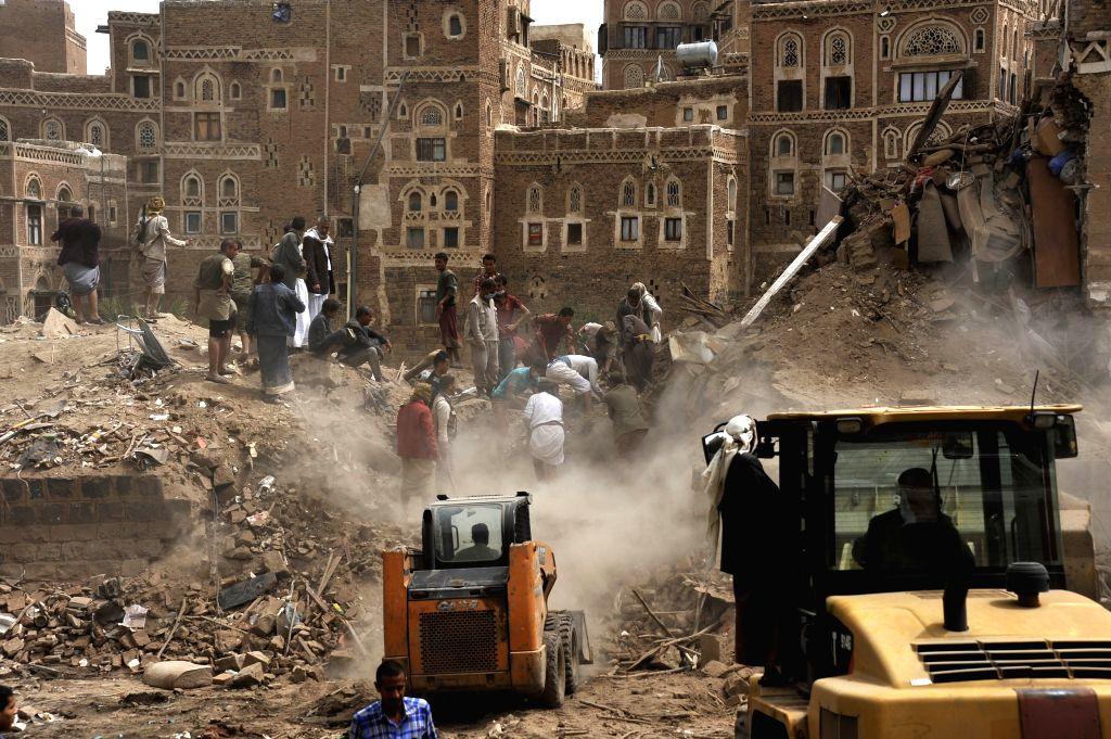 Saudi-led airstrikes hit Houthi positions in Yemen