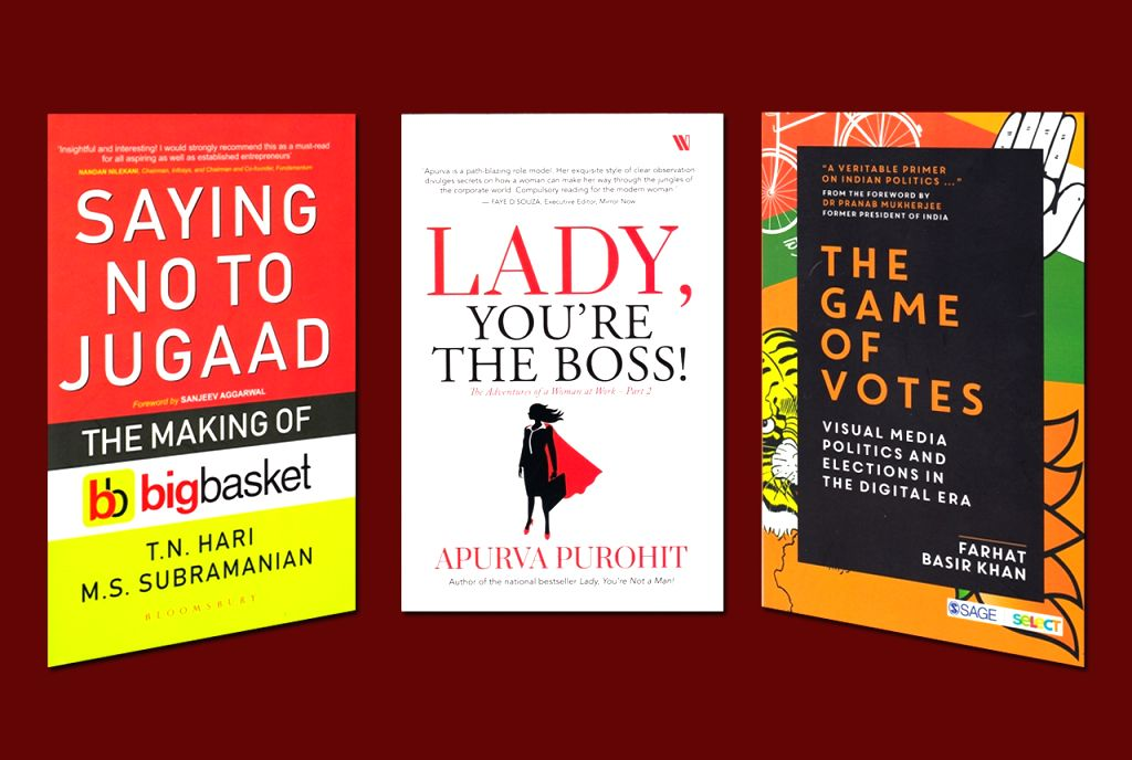 "Saying No To Jugaad - The Making of BigBasket"" by T.N. Hari and M.S. Subramaniam; ""Lady, You're The Boss! - The Adventures of a Woman at Work-Part 2"" by Apurva Purohit; ""The ... - Farhat Basir Khan"