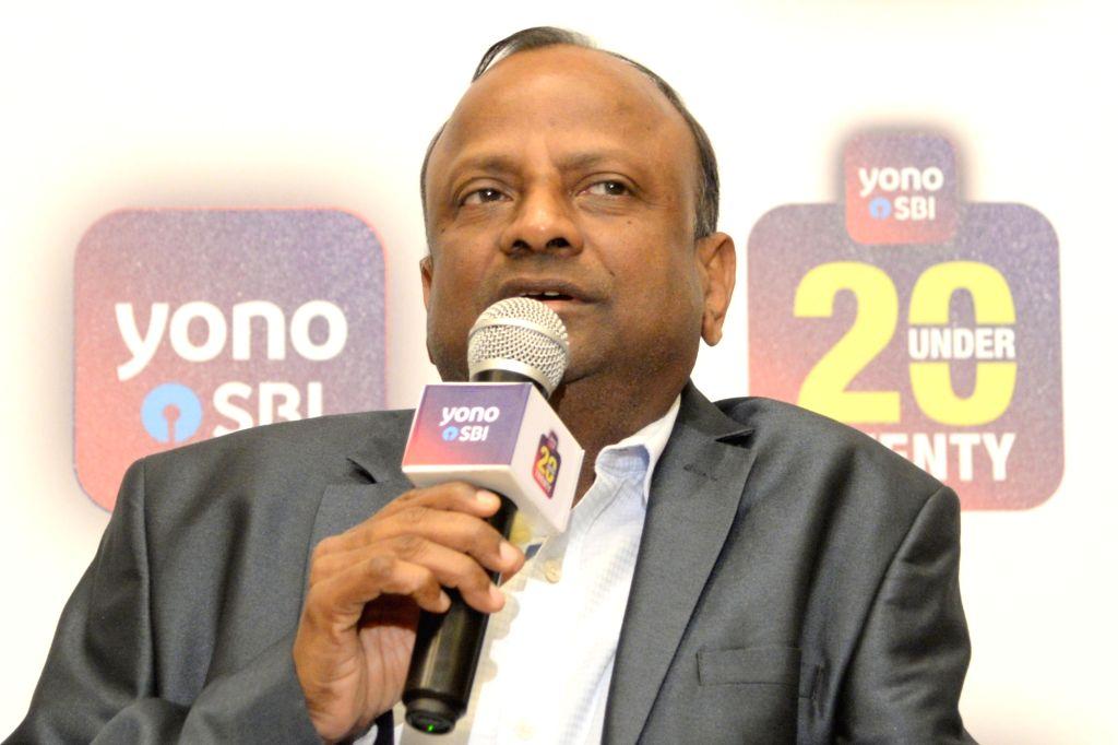 SBI Chairman Rajnish Kumar addresses a press conference in Bengaluru, on Feb 4, 2019. - Rajnish Kumar
