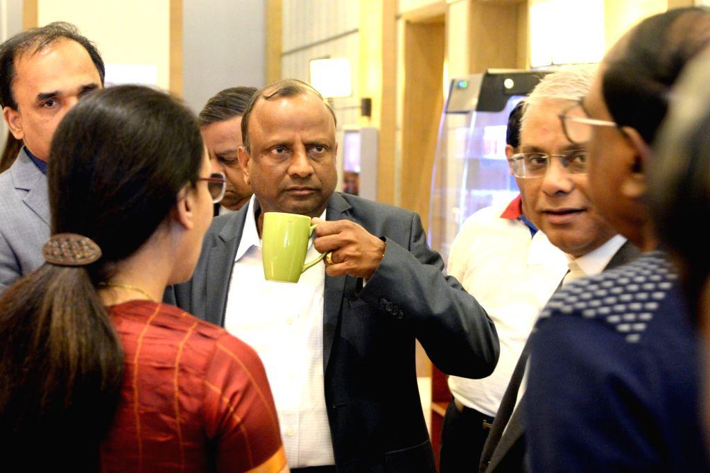 SBI Chairman Rajnish Kumar and MD Arijit Basu at a press conference in Bengaluru, on Feb 4, 2019. - Rajnish Kumar and Arijit Basu