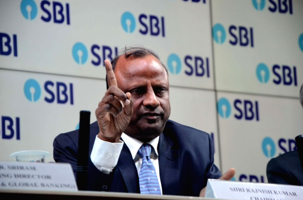 SBI Chairman Rajnish Kumar during a press conference organised to announce SBI's fourth quarter results for the financial year 2017-18, in Mumbai on May 22, 2018. - Rajnish Kumar
