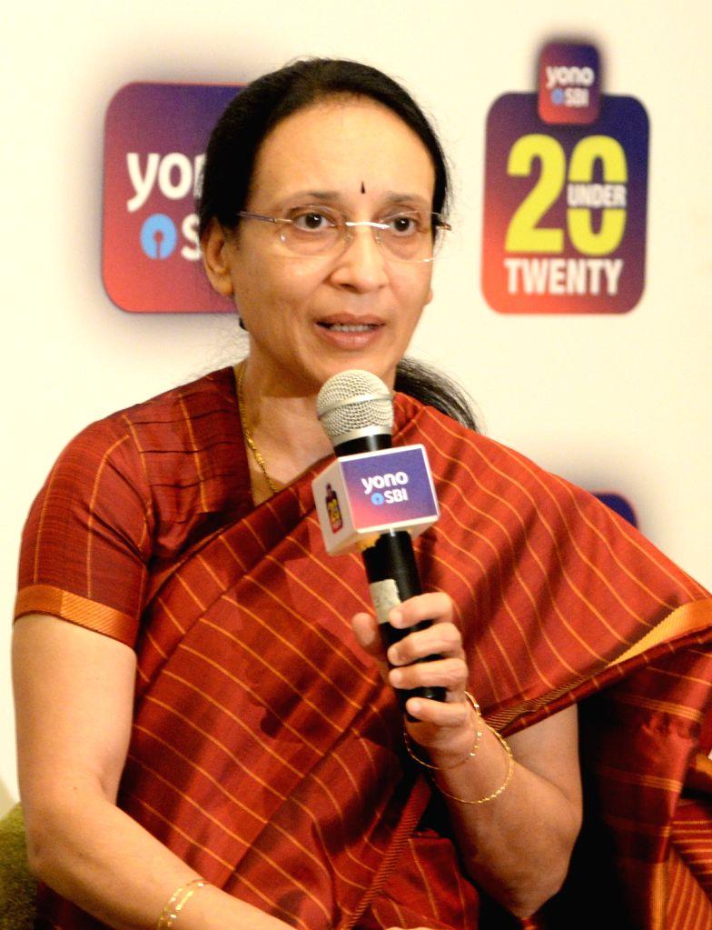 SBI Deputy Managing Director Anuradha Rao addresses a press conference in Bengaluru, on Feb 4, 2019. - Anuradha Rao