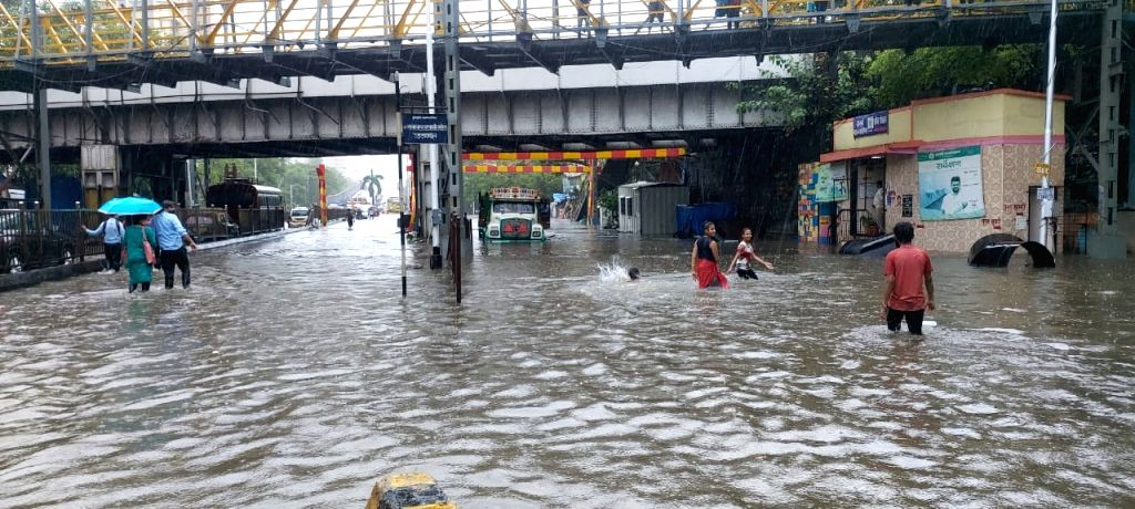 Scenes from different parts of the city hit by heavy rains, flooding, etc.