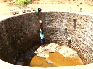 Scenes of the grim water scarcity situation in different parts of Maharashtra this year.