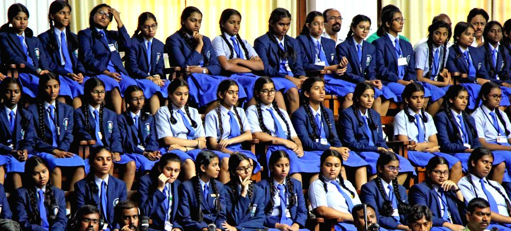 School students during the Budget Session of Karnataka Assembly, in Bengaluru on Feb 8, 2019.