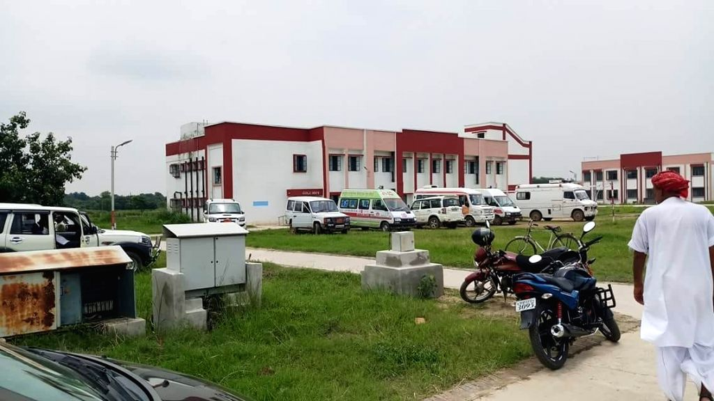 School students who fell ill after consuming contaminated food being treated at a hospital, in Lakhisarai district of Bihar on July 13, 2018. Reportedly more than 100 students were taken ...