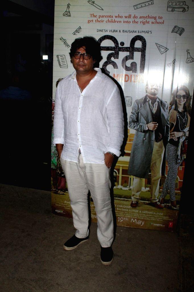 Screen writer Ritesh Shah during the screening of the film Hindi Medium in Mumbai on May 16, 2017. - Ritesh Shah