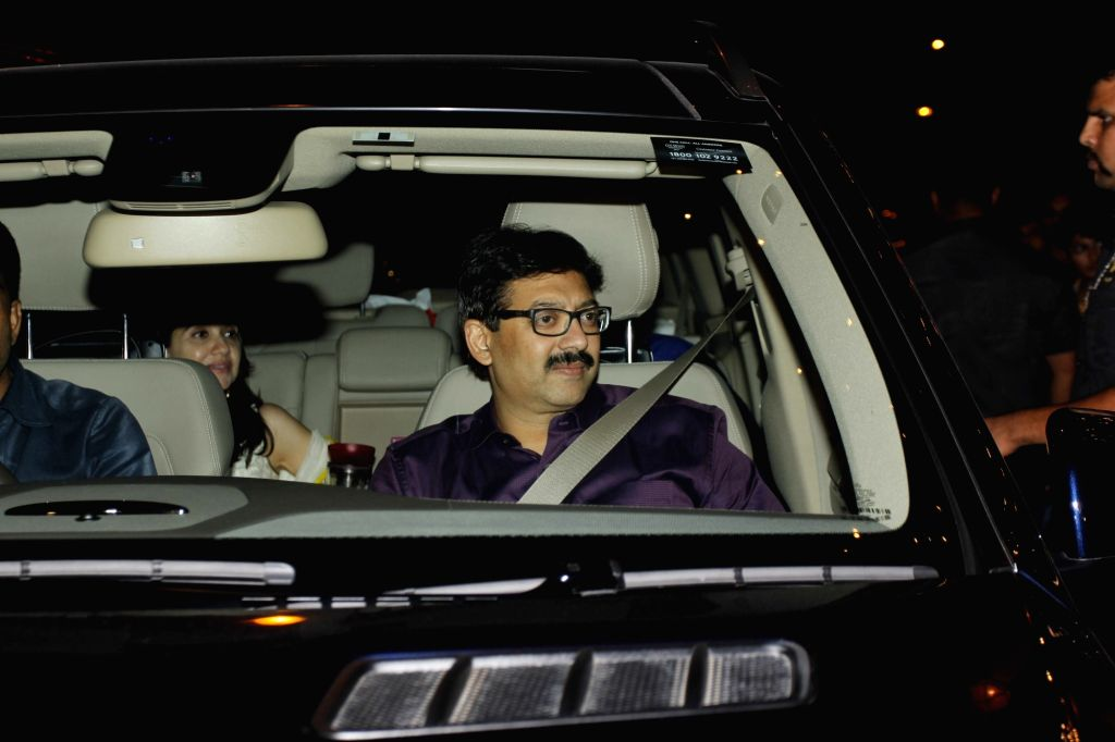 Screenwriter Abhijat Joshi arrive to attend the Amitabh Bachchan's Diwali party in Mumbai on Nov 11, 2015. - Abhijat Joshi