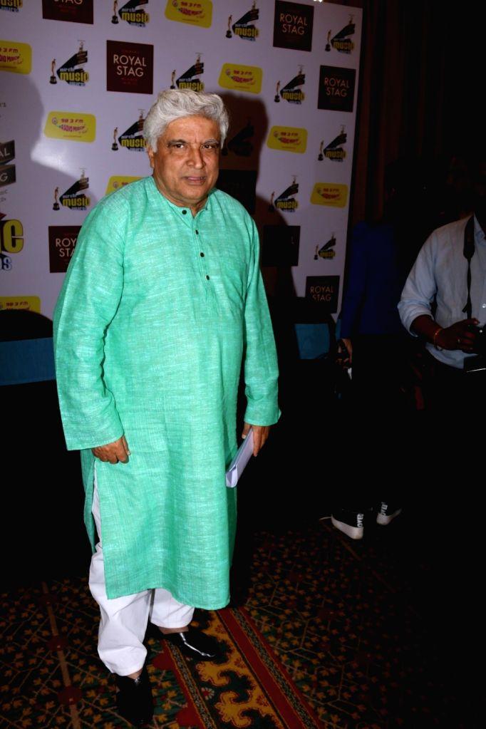 Script writer Javed Akhtar during Radio Mirchi Music Awards in Mumbai on Jan 24, 2016.