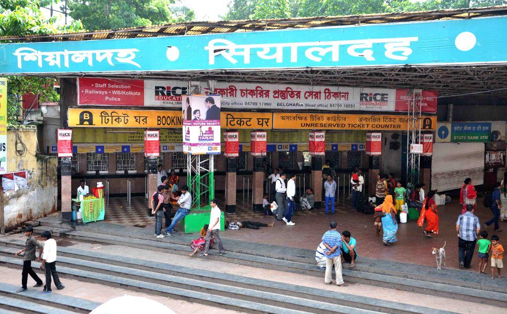 Sealdah station. (Photo: Kuntal Chakrabarty/IANS)