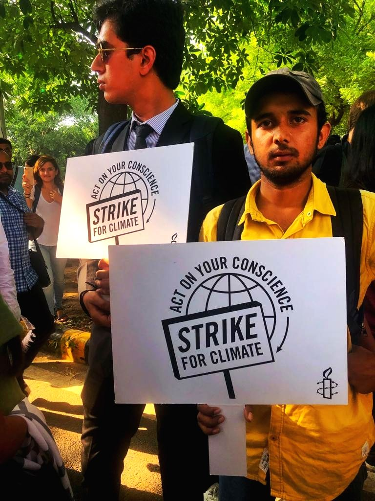 "Search engine Ecosia, which promises to plant a sapling on every 45 searches, on Friday organized a ""strike"" against climate change in Delhi, and many other countries."