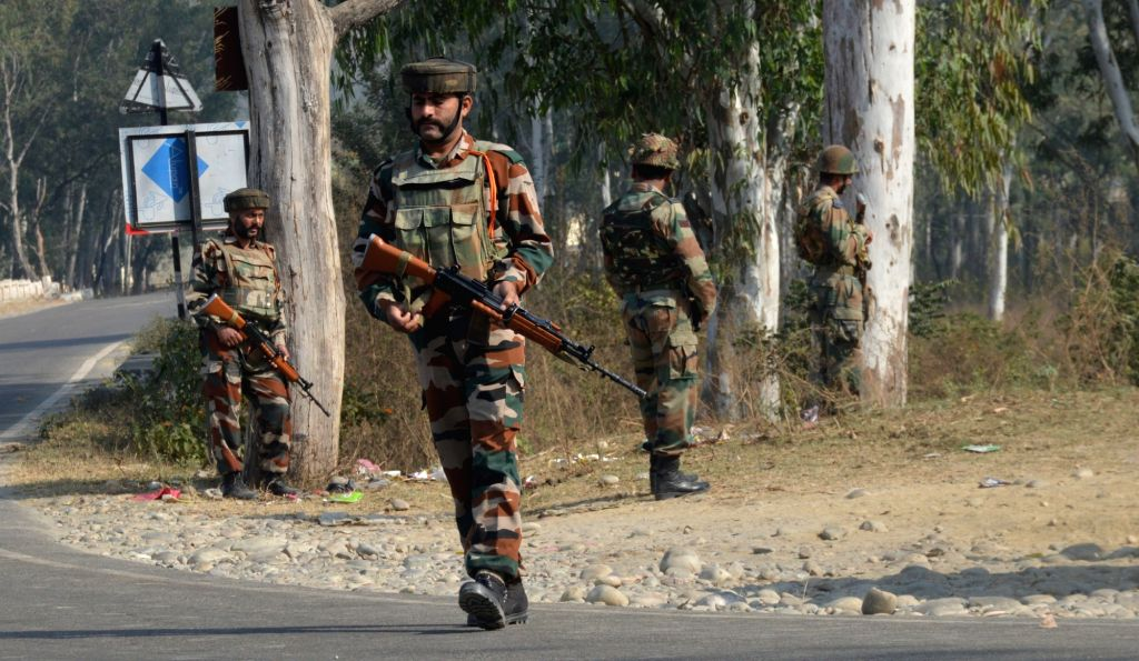 Search operations resumes at Nagrota army camp in Jammu on Nov 30, 2016. seven soldiers, including two officers and three militants were killed in the operation that lasted nearly 14-hours ...