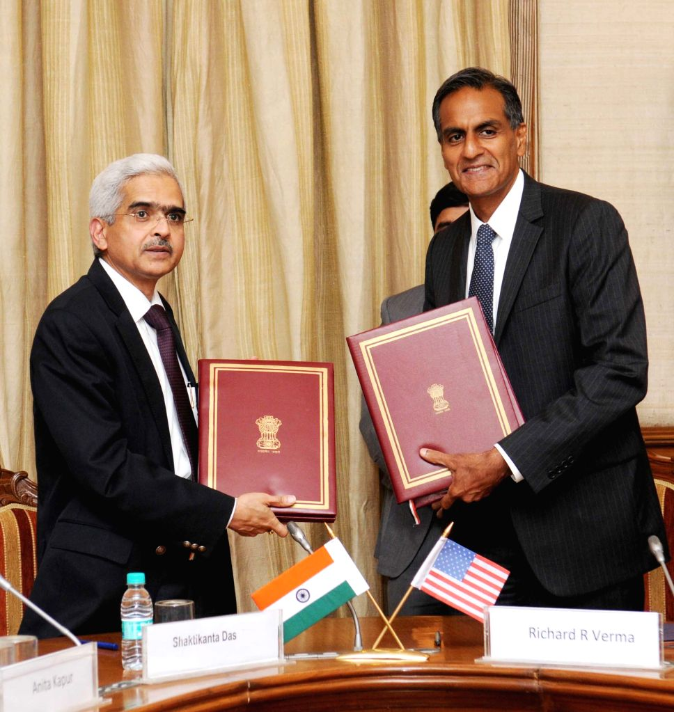 Secretary, Department of Revenue, Ministry of Finance Shaktikanta Das and the US Ambassador to India, Richard R. Verma signed the Inter-Governmental Agreement between India and USA for ... - Richard R. Verma