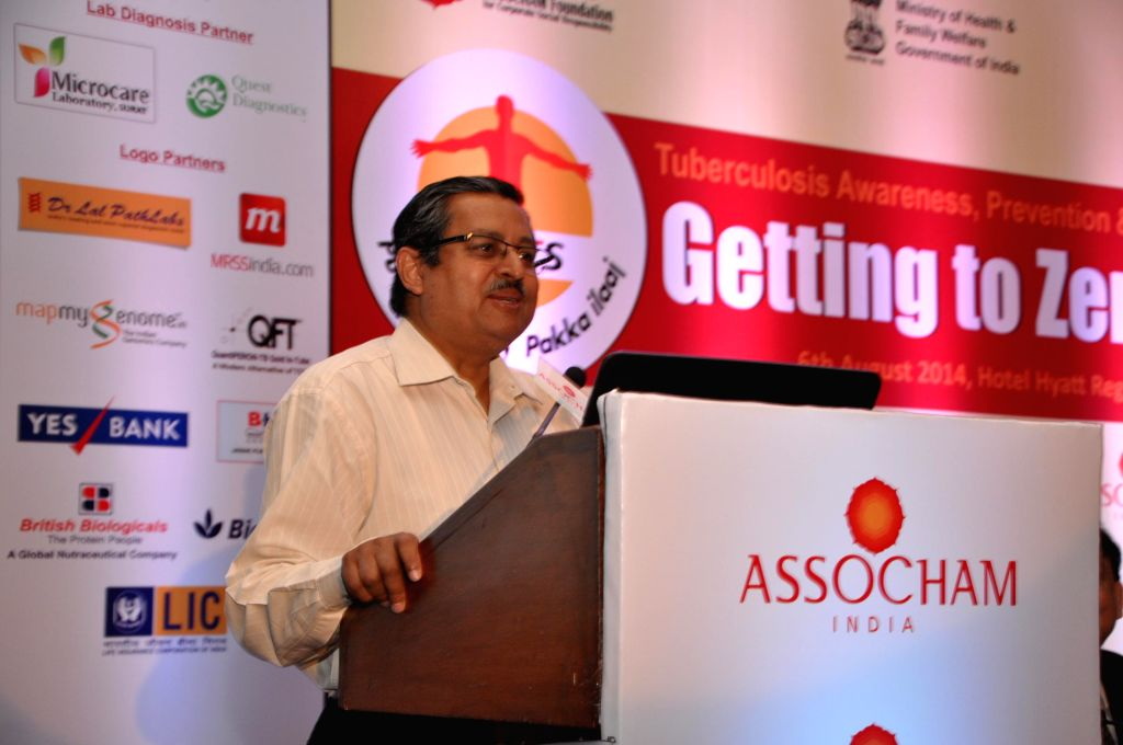 Secretary of Ministry of Health and Family Welfare Lov Verma addresses during a ASSOCHAM Tuberculosis Awareness, Prevention and Wellness Programme in New Delhi on Aug 6, 2014. - Welfare Lov Verma