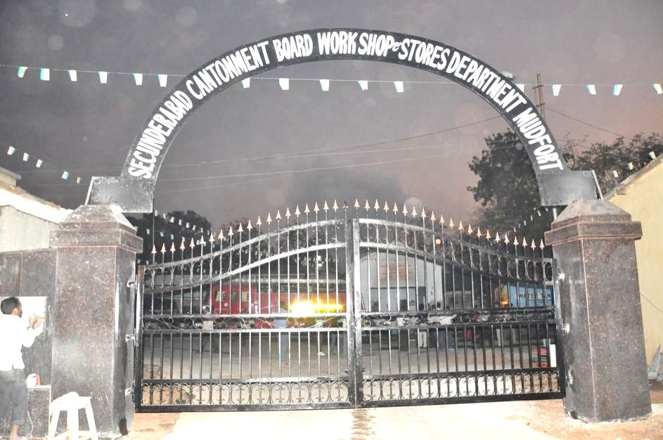 A fire breaks out at Secunderabad Cantonment Board Workshop and Stores Department Mudfort on Feb 18, 2015.