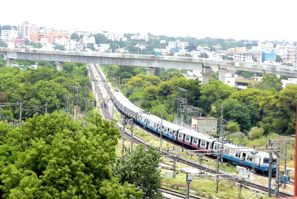 Secunderabad: A view of the Oliphant railway bridge at Secunderabad Railway Station which has been closed due to the ongoing Hyderabad Metro Rail Limited works in the area on Aug 8, 2017. (Photo: IANS)