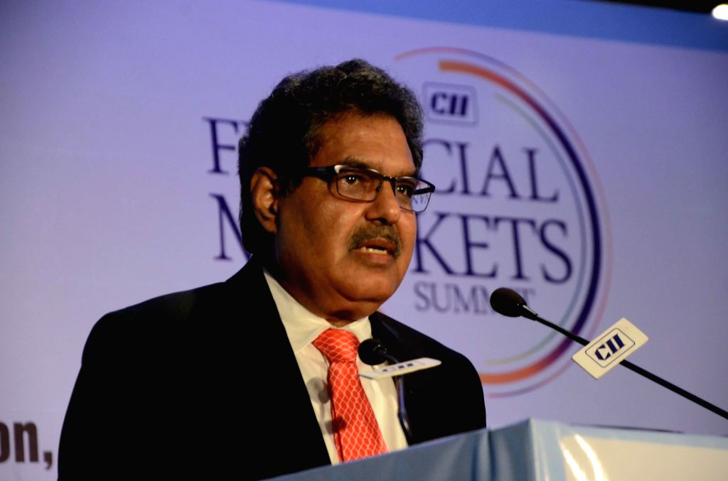 Securities and Exchange Board of India (SEBI) Chairman Ajay Tyagi addresses at Financial Markets Summit in Mumbai, on Dec 7, 2018.