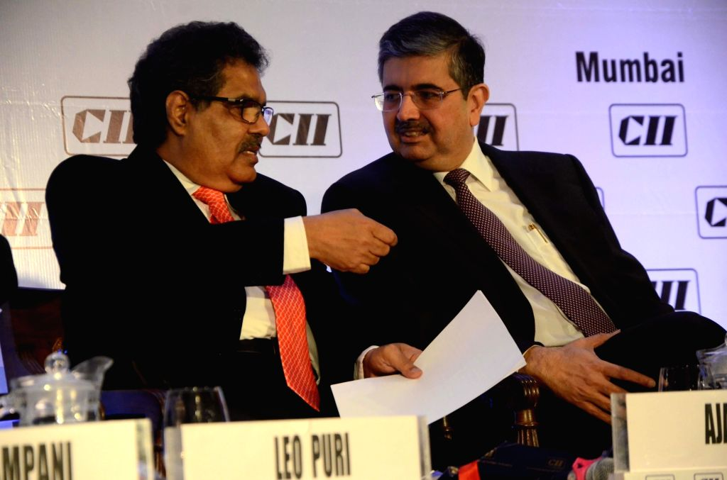 Securities and Exchange Board of India (SEBI) Chairman Ajay Tyagi in a conversation with Kotak Mahindra Bank MD and CEO Uday Kotak at Financial Markets Summit in Mumbai, on Dec 7, 2018.