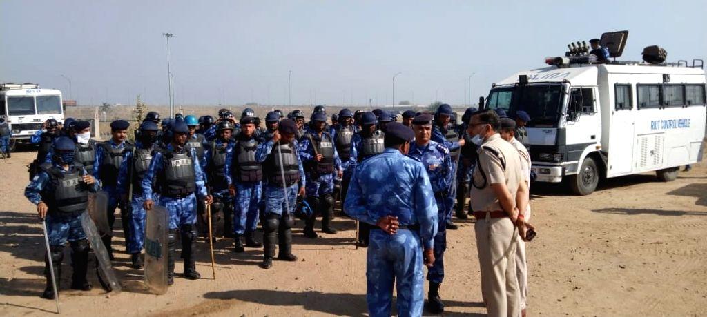 Security arrangements at  palwal aroha village kMP