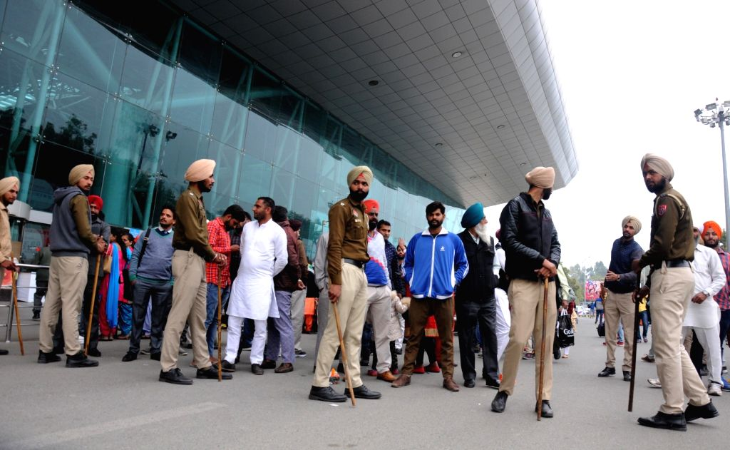 Security beefed up after an unattended briefcase was found at Sri Guru Ram Dass Jee International Airport after in Amritsar on March 15, 2017.