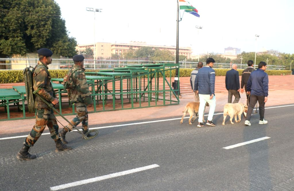 Security beefed up ahead of 2019 Republic Day celebrations in New Delhi, on Jan 25, 2019.