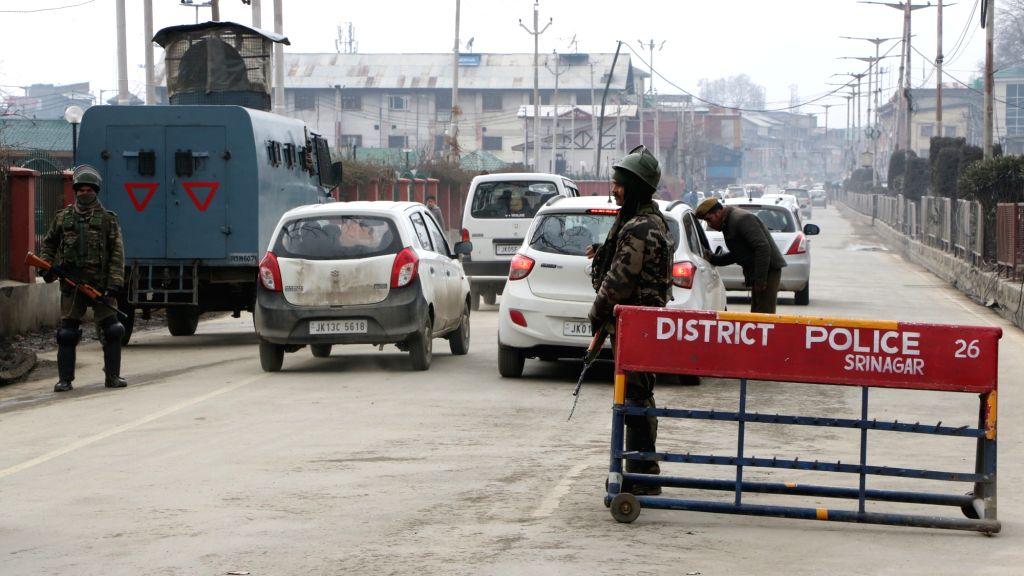Security beefed up ahead of Prime Minister Narendra Modi's visit, in Srinagar, on Feb 2, 2019. - Narendra Modi