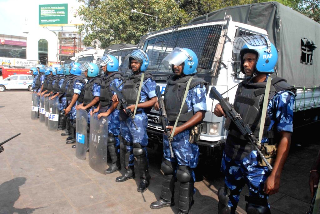 Security beefed up ahead of Telangana Assembly elections in Hyderabad on Dec 6, 2018.