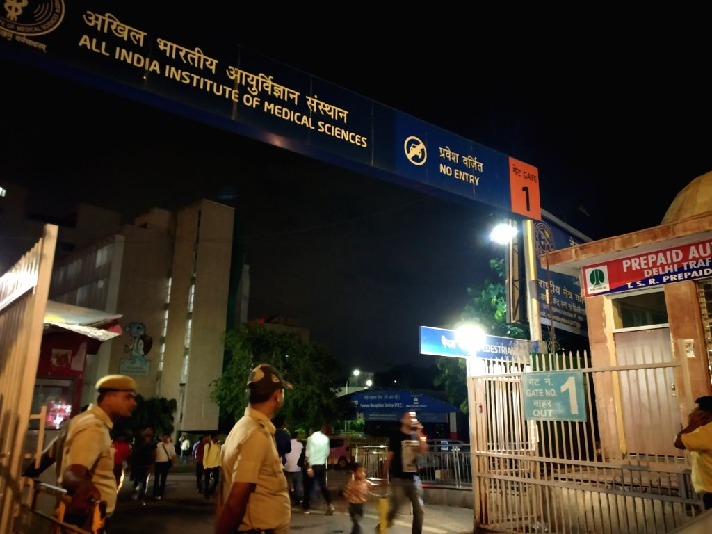 Security beefed up at AIIMS  where Former Union Finance Minister Arun Jaitley has been admitted after he complained of uneasiness and weakness, in New Delhi on Aug 9, 2019. - Arun Jaitley