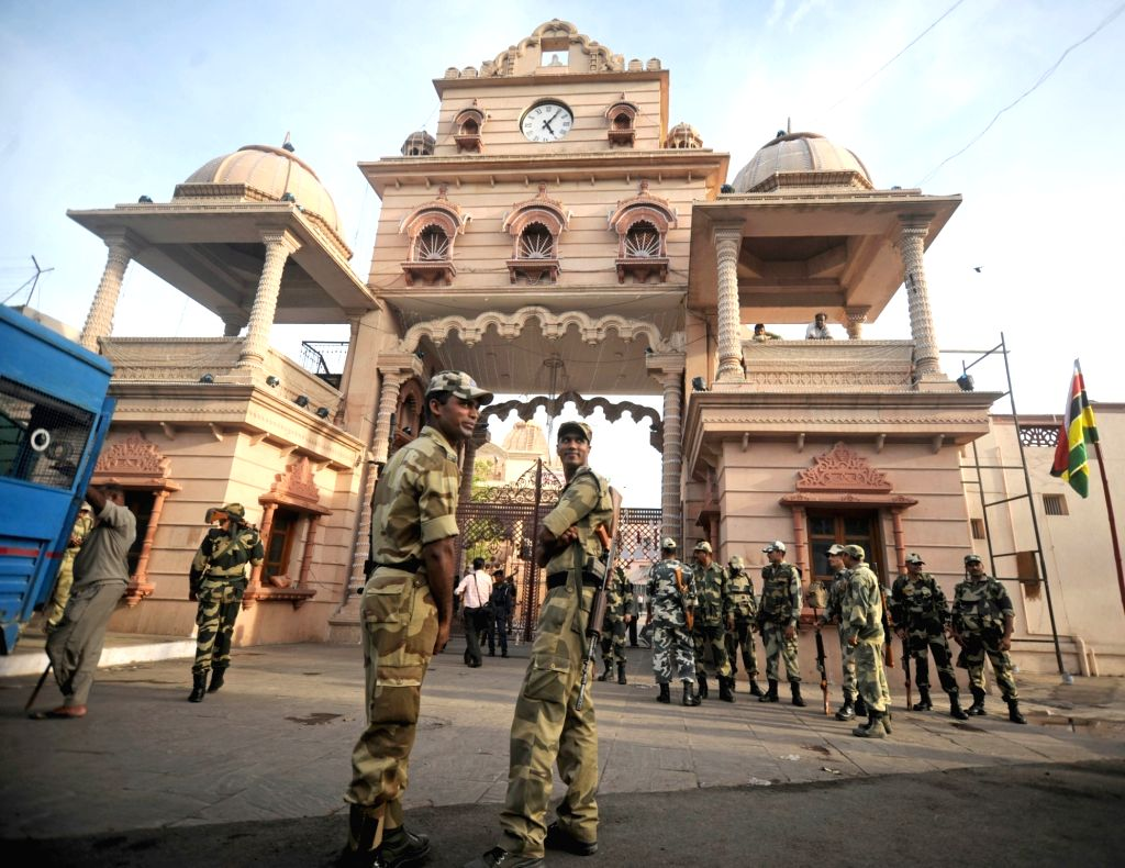 Security beefed-up at Jagannath Temple ahead of Rath Yatra in Ahmedabad, on July 1, 2016.