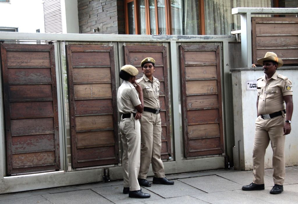 Security beefed up at the residence of Congress leader G. Parameshwara after teams of Income-Tax (I-T) Department sleuths searched his properties for alleged tax evasion by education ...