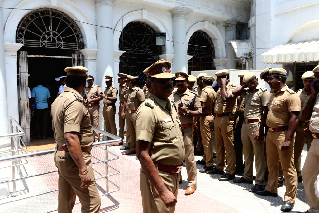 Security beefed up at the Secretariat, in Chennai on May 29, 2018.