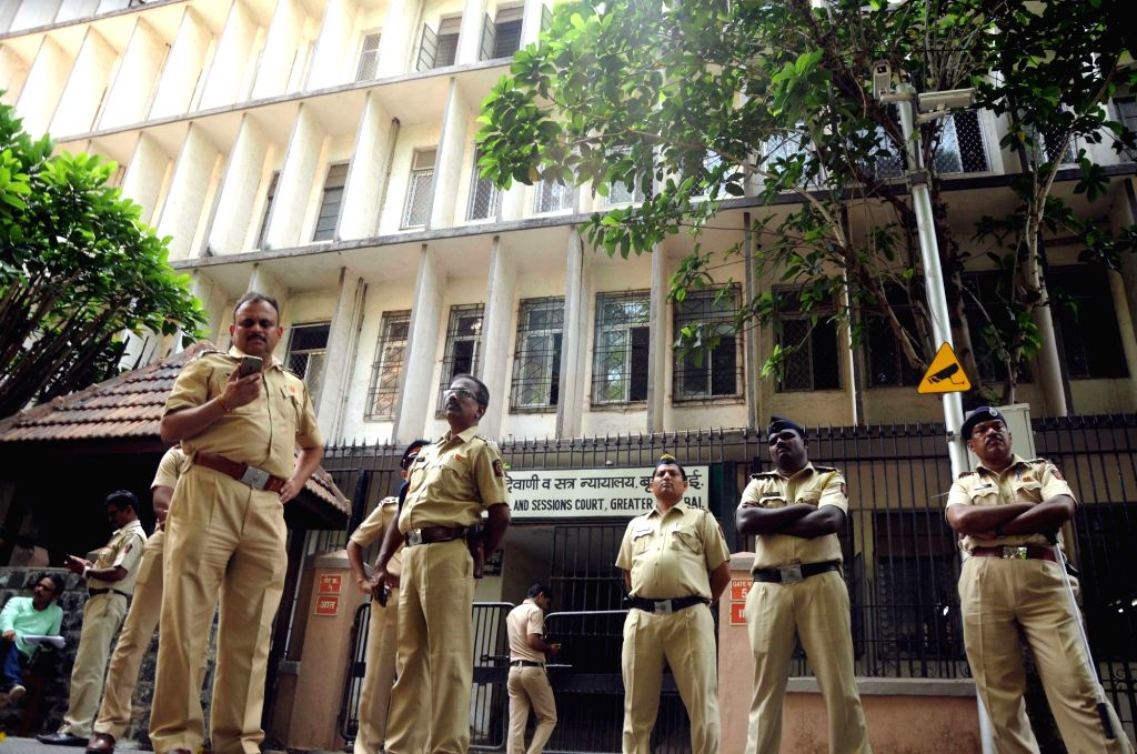 Security beefed up during the proceedings in 1993 Mumbai blasts case at the Bombay City Civil and Sessions Court in Mumbai on Sept 7, 2017.