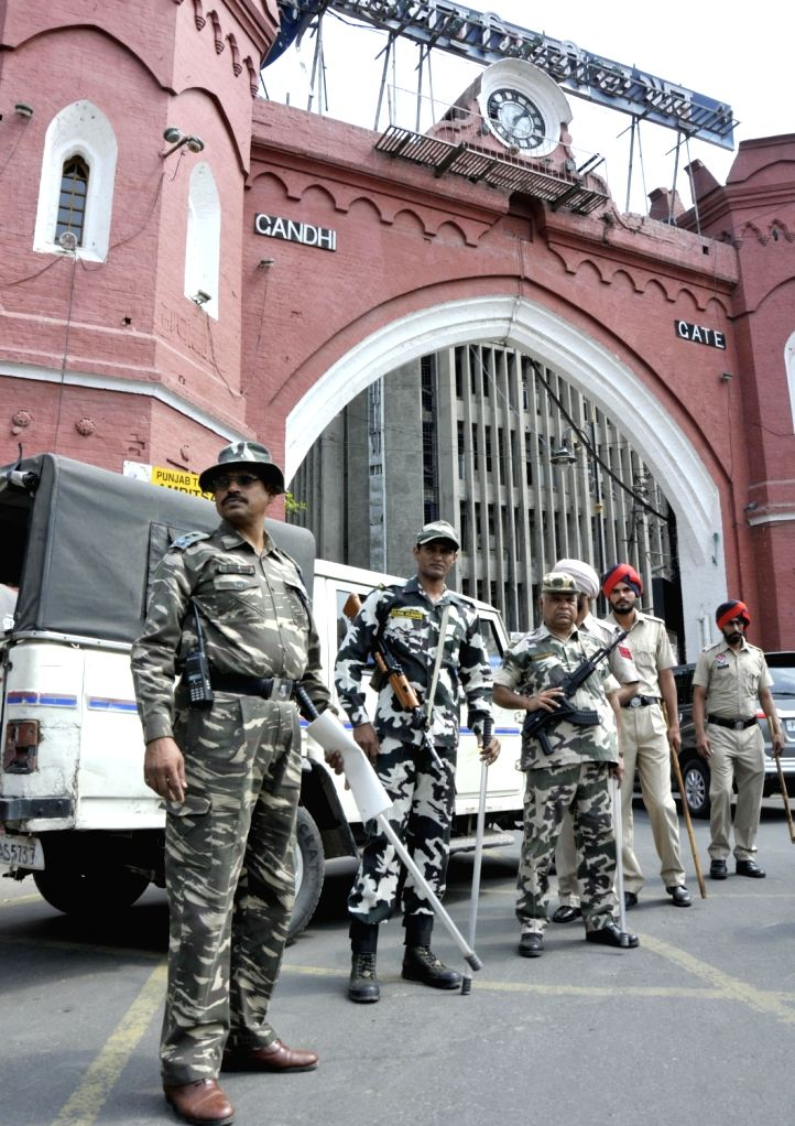 Security beefed up in Amritsar ahead of anniversary of Operation Bluestar on May 31, 2017.