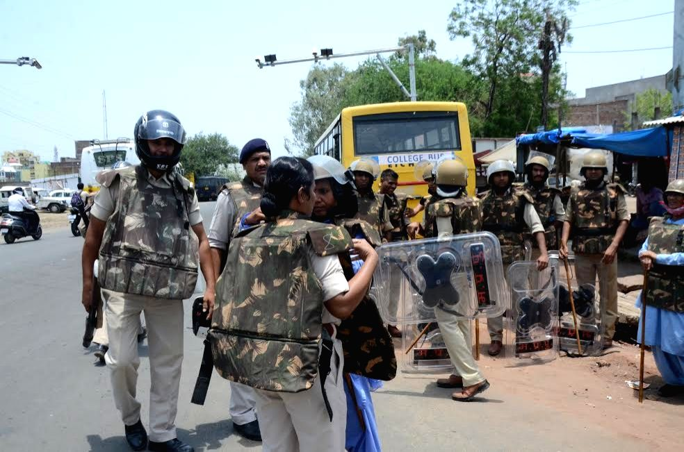 Security beefed up in Bhopal as farmers in Madhya Pradesh blocked the national highways passing through the state on Friday to press for loan waiver and remunerative prices for farm produce ...