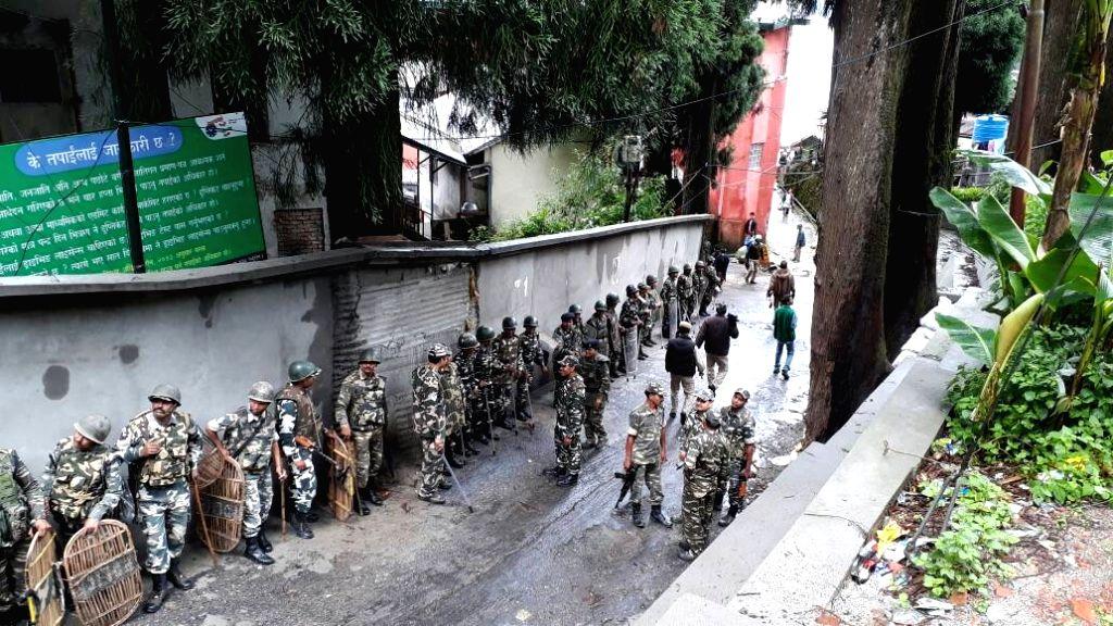 Security beefed-up in Darjeeling on June 12, 2017.