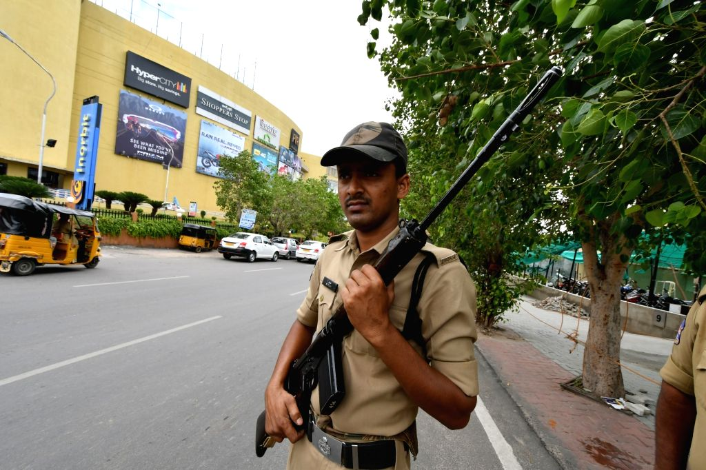 Security beefed-up in Hyderabad after five Islamic State (IS) suspects arrested by the National Investigation Agency (NIA) on July 2, 2016.