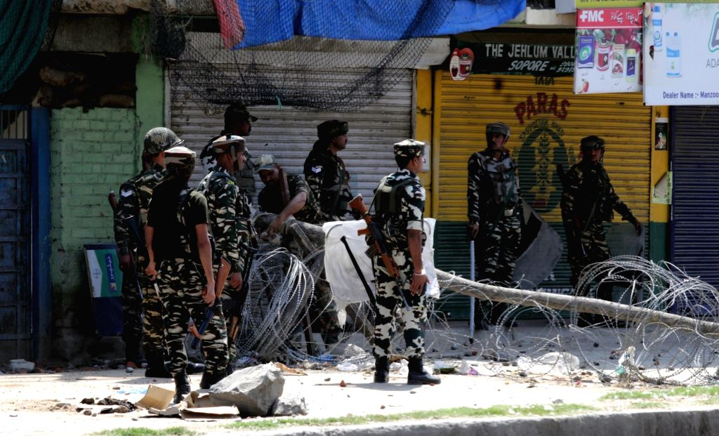 """Security beefed up in Sopore where separatists have called a strike after Sameer Wani, identified as a """"top local Hizbul commander""""was shot dead by the security forces in Kupwara of ..."""