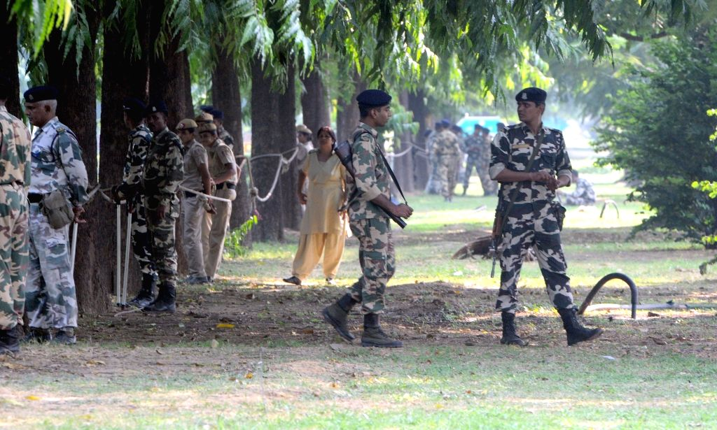 Security beefed-up outside Pakistan High Commission in New Delhi on Sept 19, 2016.