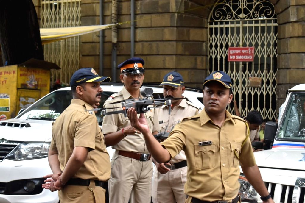 Security beefed up outside the Enforcement Directorate (ED) office in Mumbai on Sep 27, 2019.
