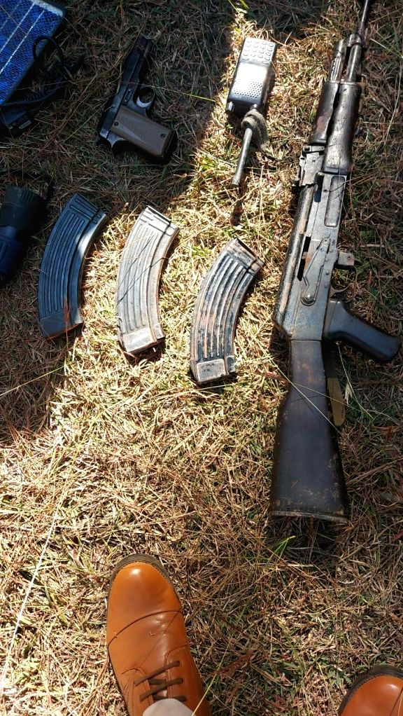 Security forces busted a terrorist hideout in a forest area in Poonch district of Jammu and Kashmir, leading to recovery of a cache of arms and ammunition,on Oct 28, 2020. The hideout was ...