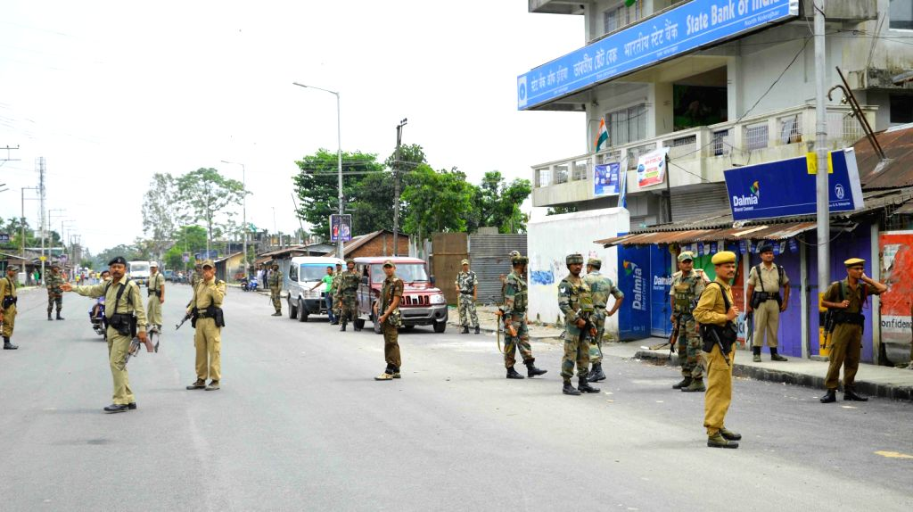 Security forces surrounded the area after suspected Militants lobbed two grenades in the market area during the Independence Day celebrations injuring one while third grenade was found unexploded ...