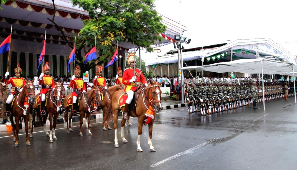 Security personnel during the Independence Day celebrations in Chennai on August 15, 2013. (Photo::: IANS)