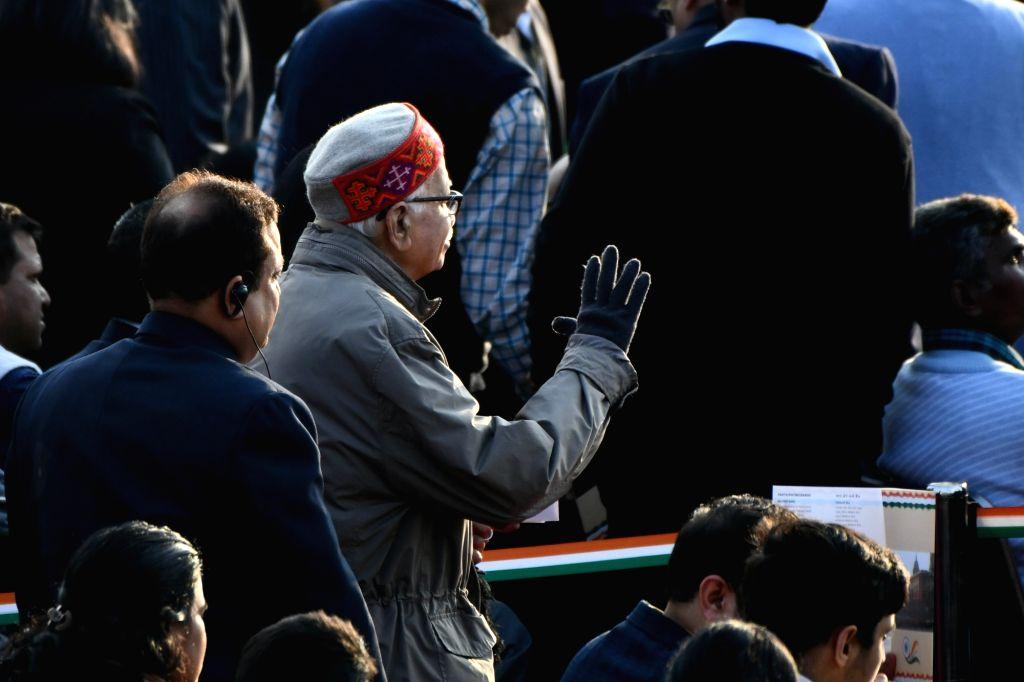 Senior BJP leader LK Advani arrives at the Beating the Retreat Ceremony 2020, at Vijay Chowk in New Delhi on Jan 29, 2020.