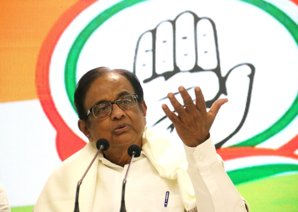 Senior Congress leader P Chidambaram addresses a press conference in New Delhi on Dec 5, 2019.